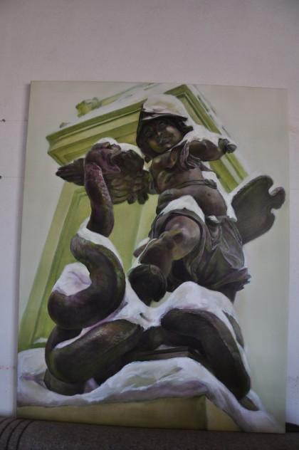 Der kämpfende engel 2 zeichnung auf der leinwand 110 130cm 2011